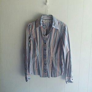 Tommy Hilfiger women's striped button down shirt